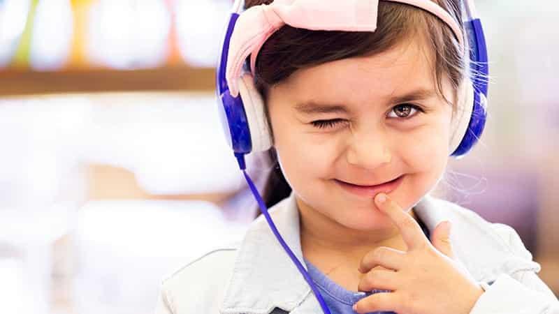 Child winking at camera