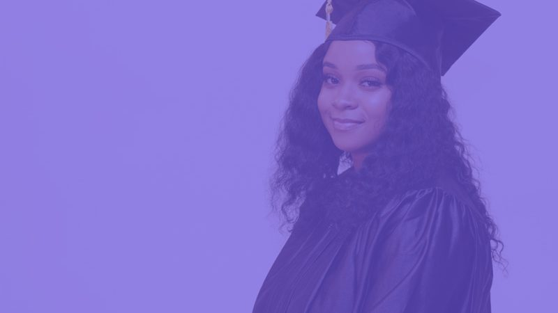 Girl graduating high school
