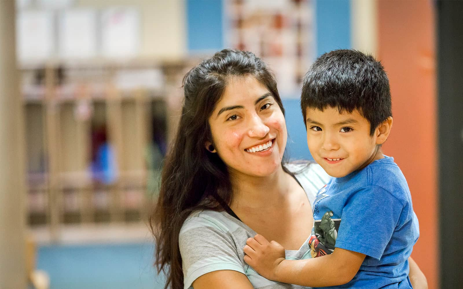 Mother holding child at Educare DuPage