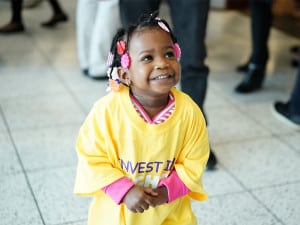Young child participating in 2019 Illinois Advocacy Day