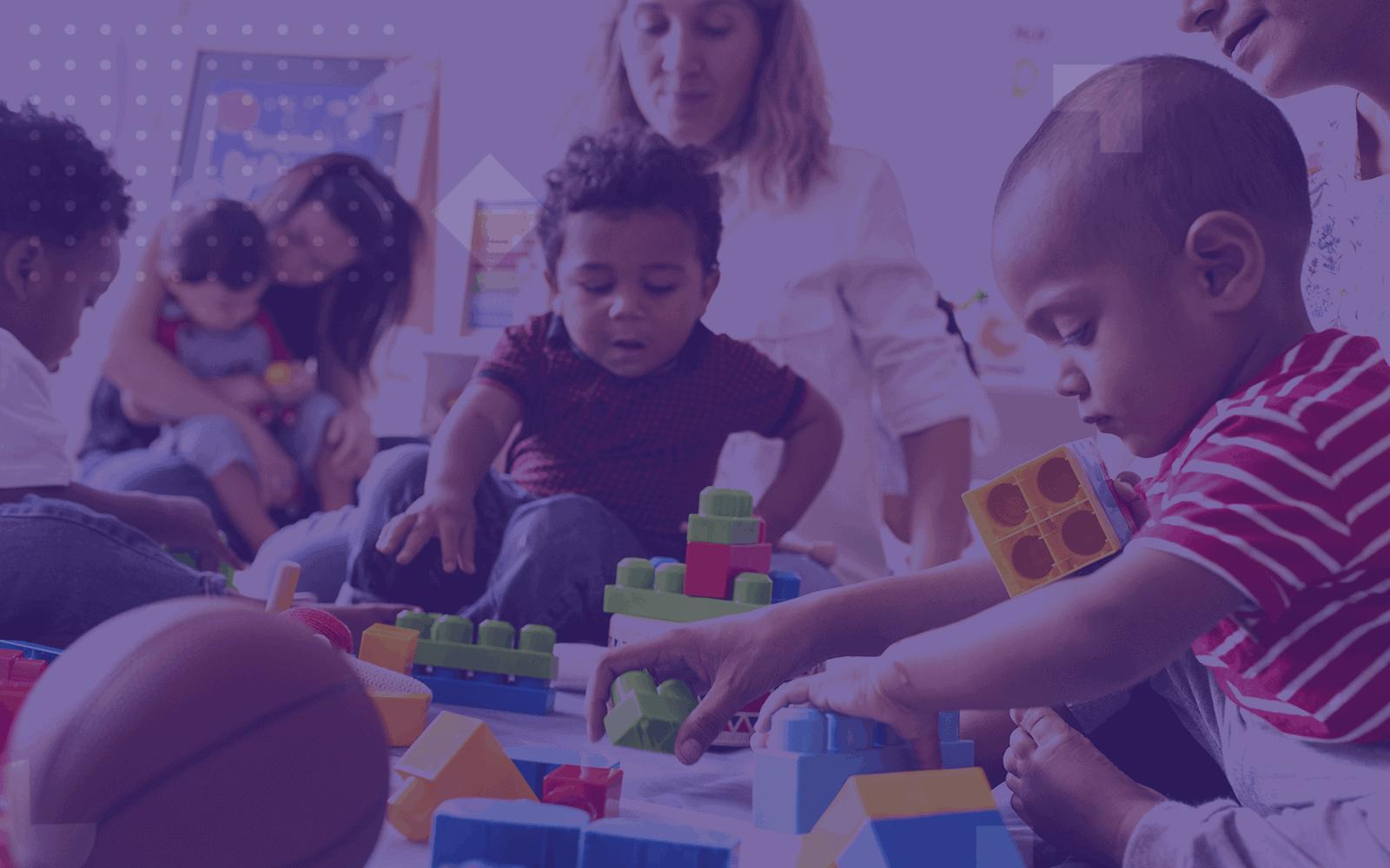 Children in child care center