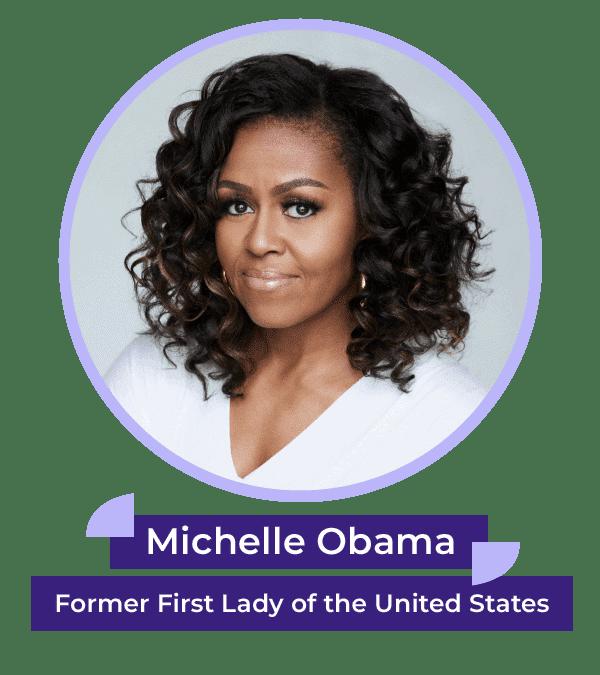 Michelle Obama headshot_Start Early branded