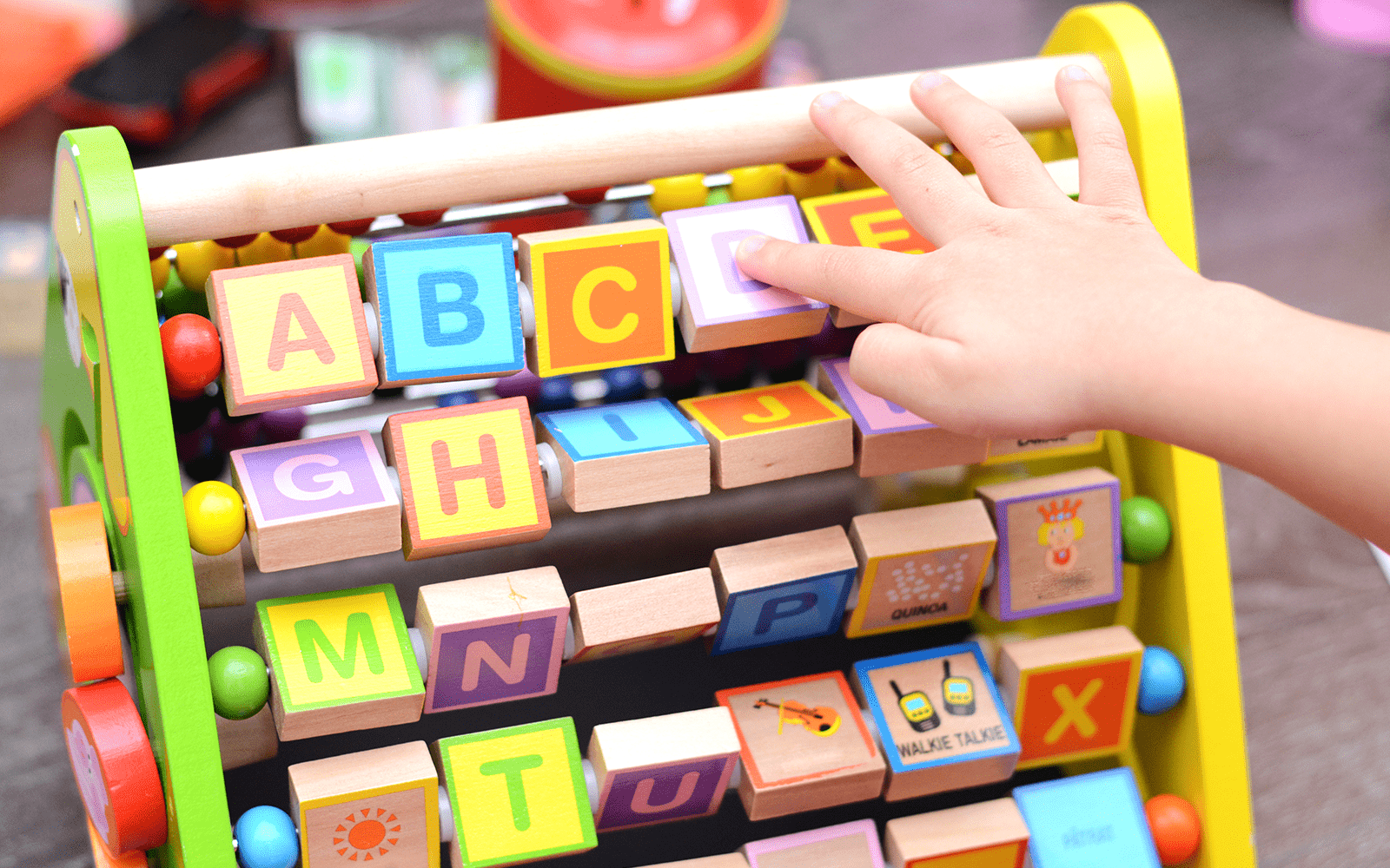 Alphabet Learning Game Close Up