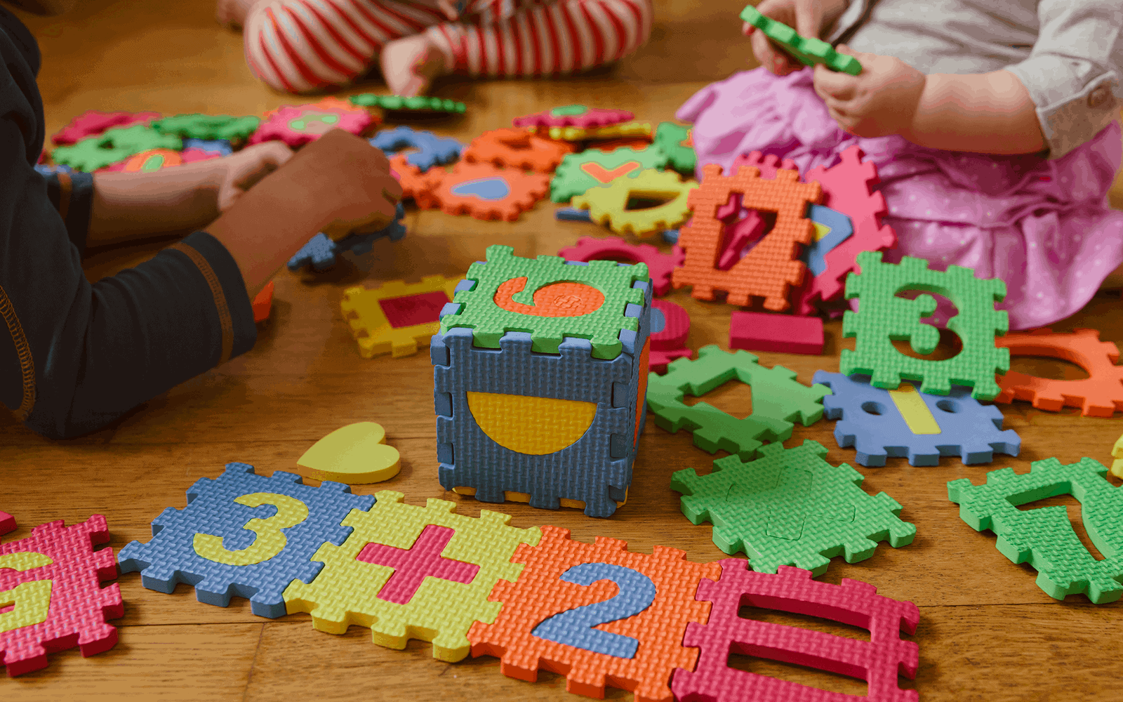 Colorful Learning Game Close Up