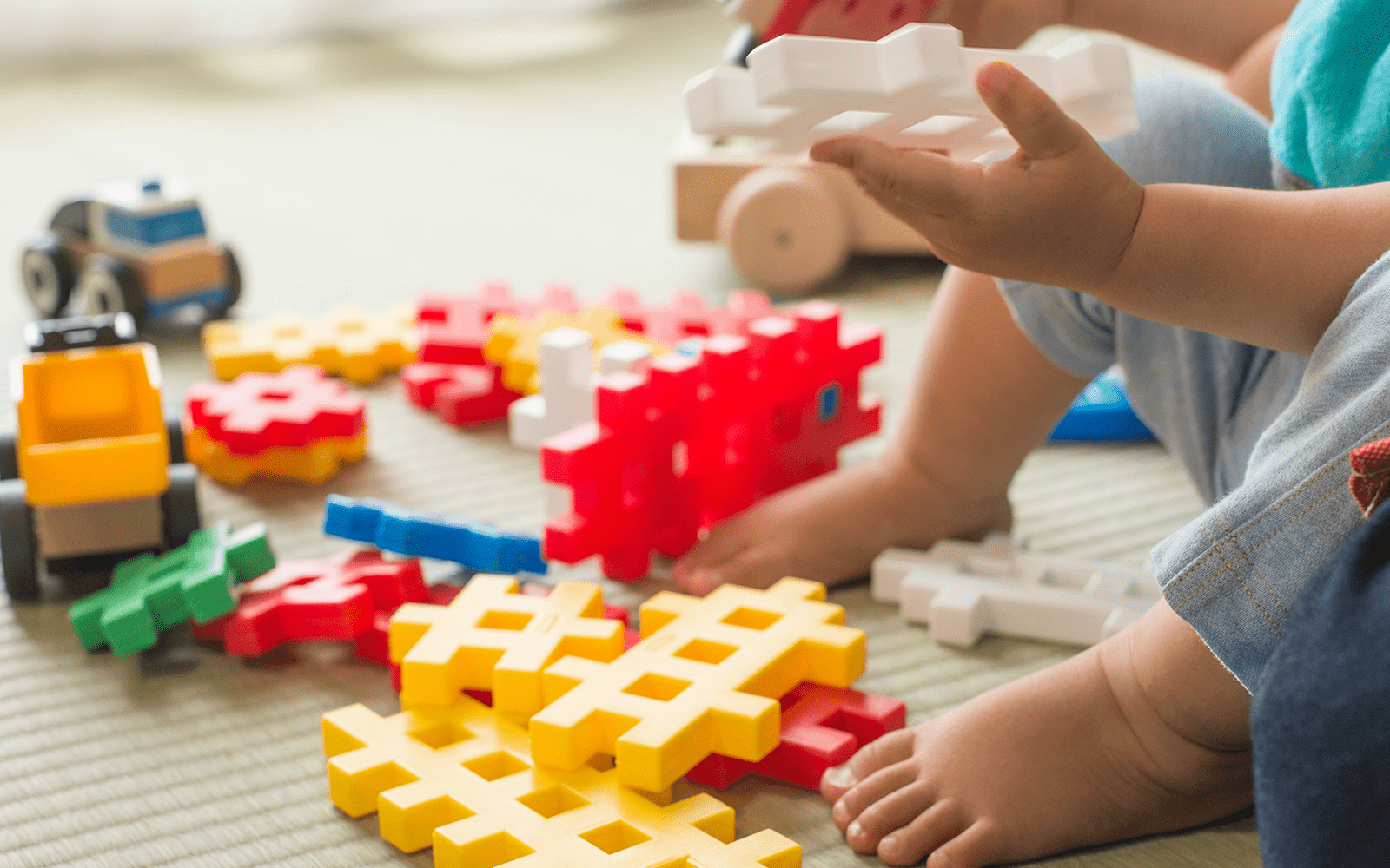 Trucks and Toddler Games Close Up